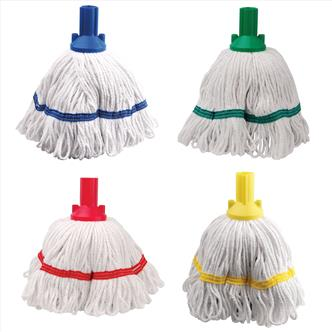 Mops, buckets, brushware, squeegees and sweepers