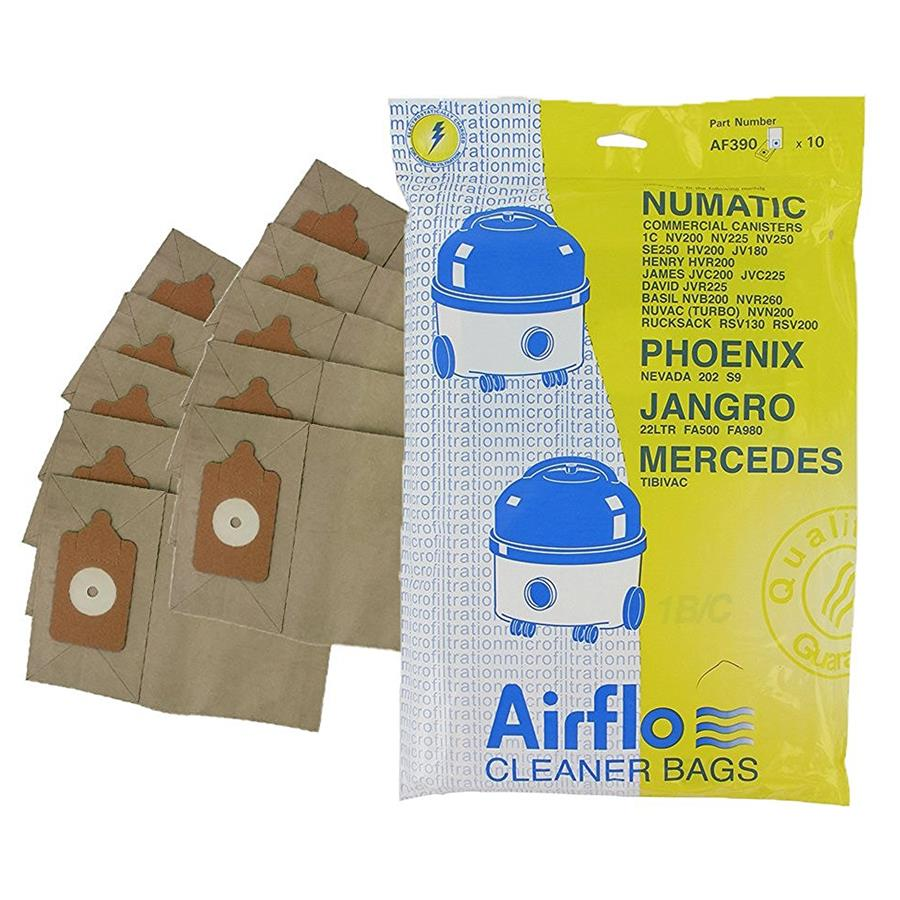 AF390 - Pattern bag for numatic tub vacuum - 1x10