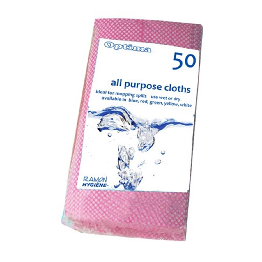 All Purpose Cloth Red pack x 50