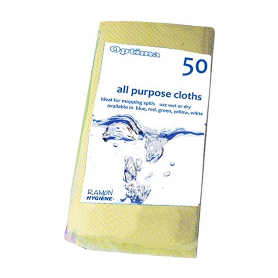 All Purpose Cloth Yellow pack x 50