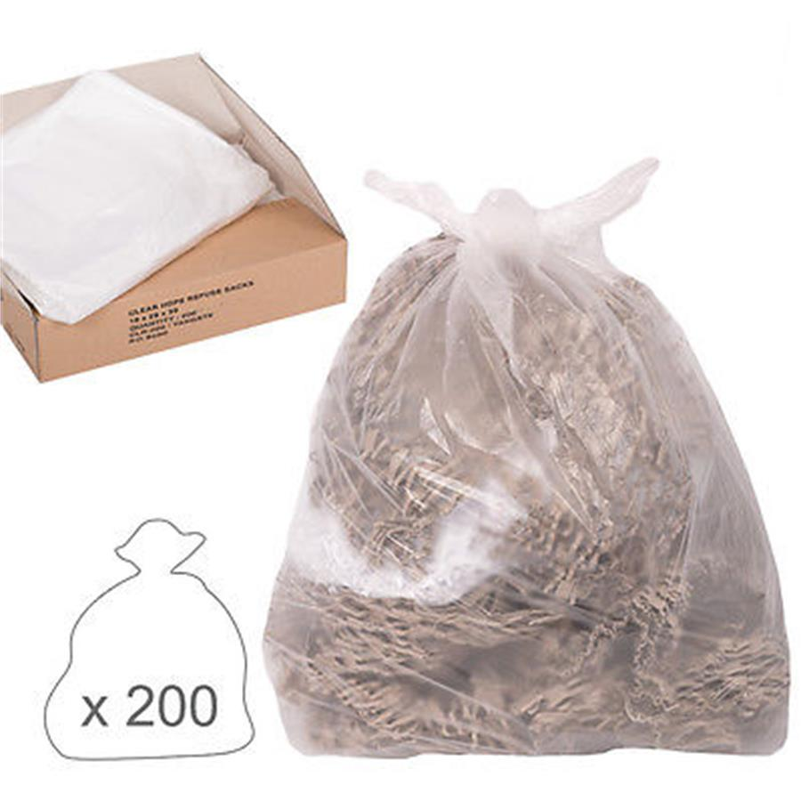 Clear Refuse Sacks 18 x 29 x 39""