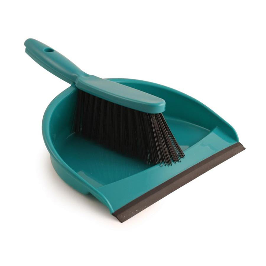 Dust Pan & Brush Set - Green