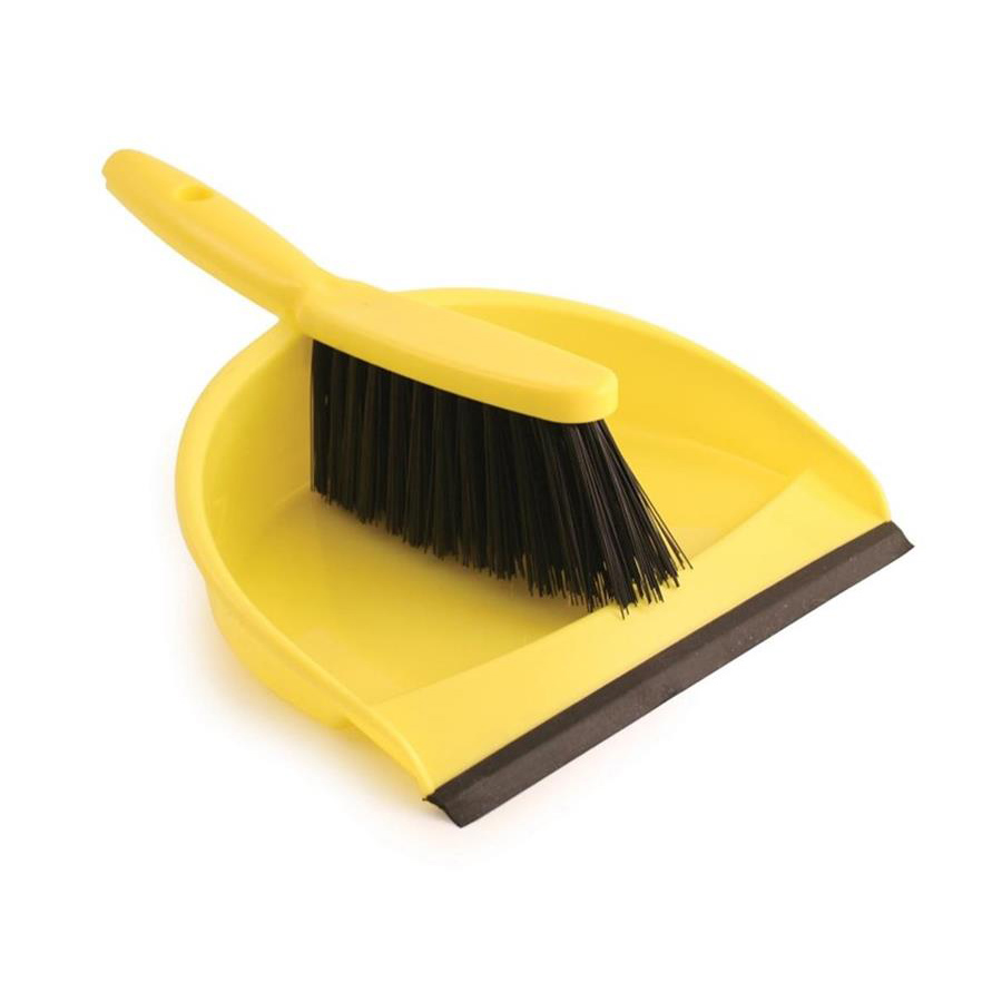 Dust Pan & Brush Set - Yellow