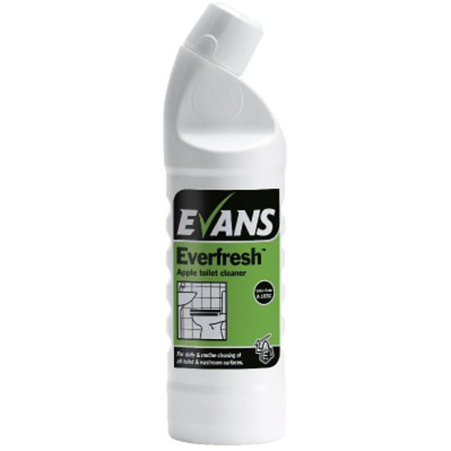 Evans Everfresh Apple Toilet Cleaner 1ltr