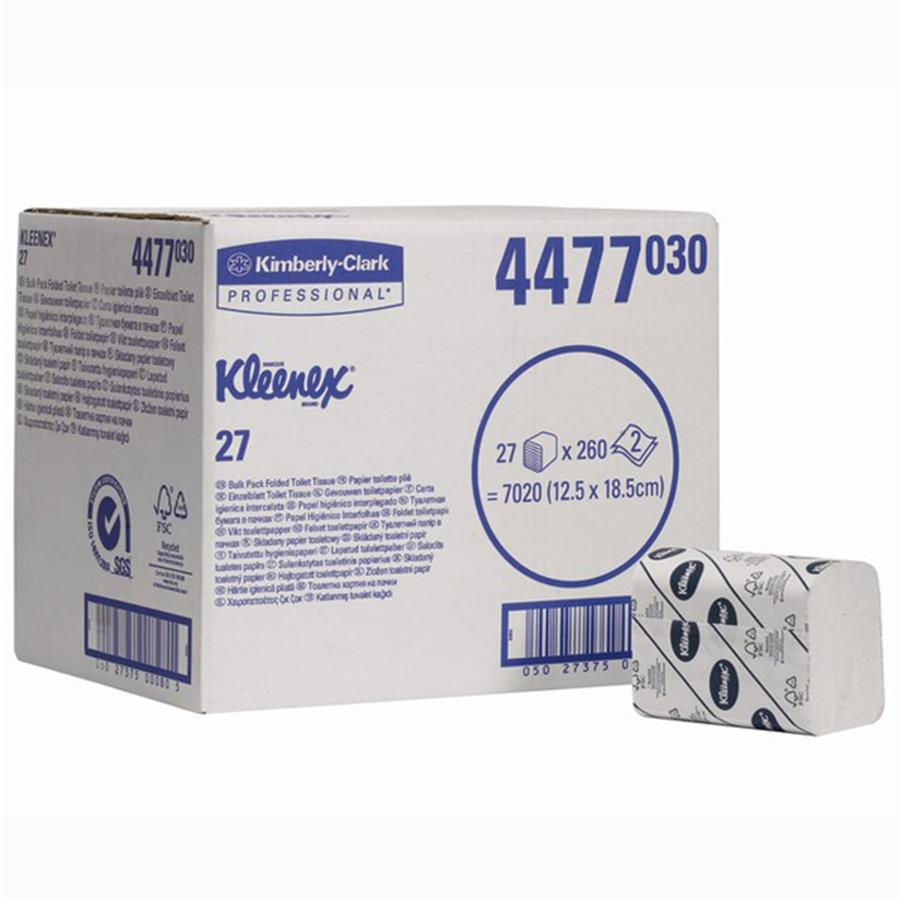 KC4477 Kleenex 27 Bulk Pack Toilet Tissue 2 ply