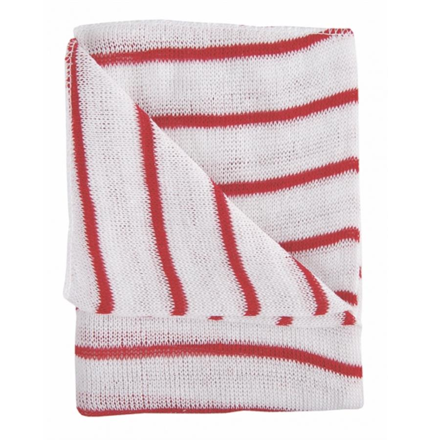Stripe Dishcloth x 10 - Red