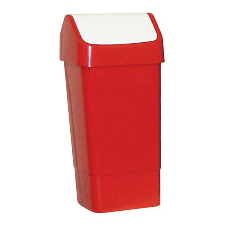 Swing Bin - 45/50ltr Plastic - Red