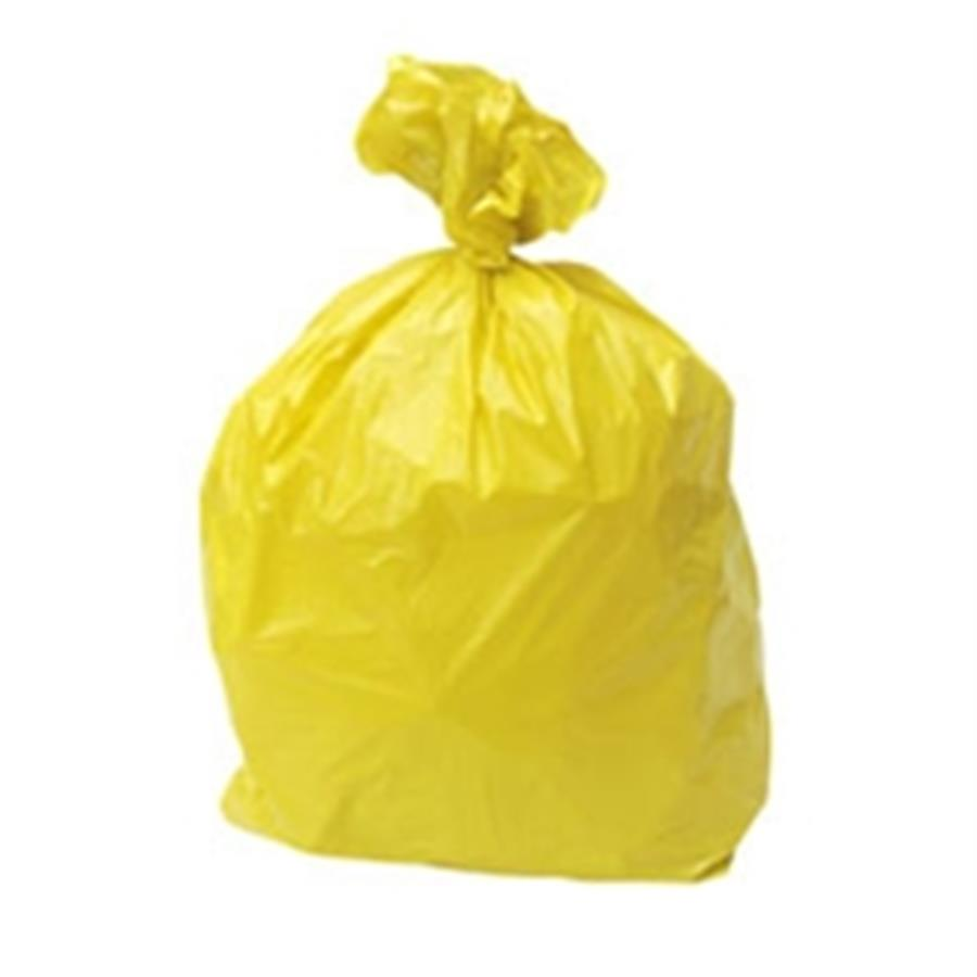 Yellow Refuse Sacks 18 x 29 x 39""
