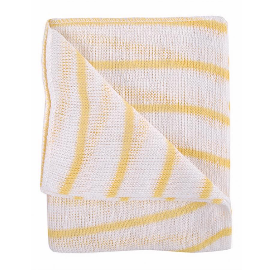 Stripe Dishcloth x 10 - Yellow