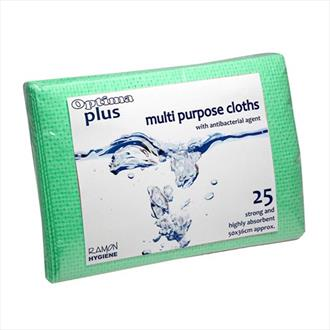 Optima Plus 200 Super Absorbent Cloth - Green pack x 25