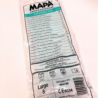 MAPA Optimo 454 Hypo Allergenic Gloves Large 1pair