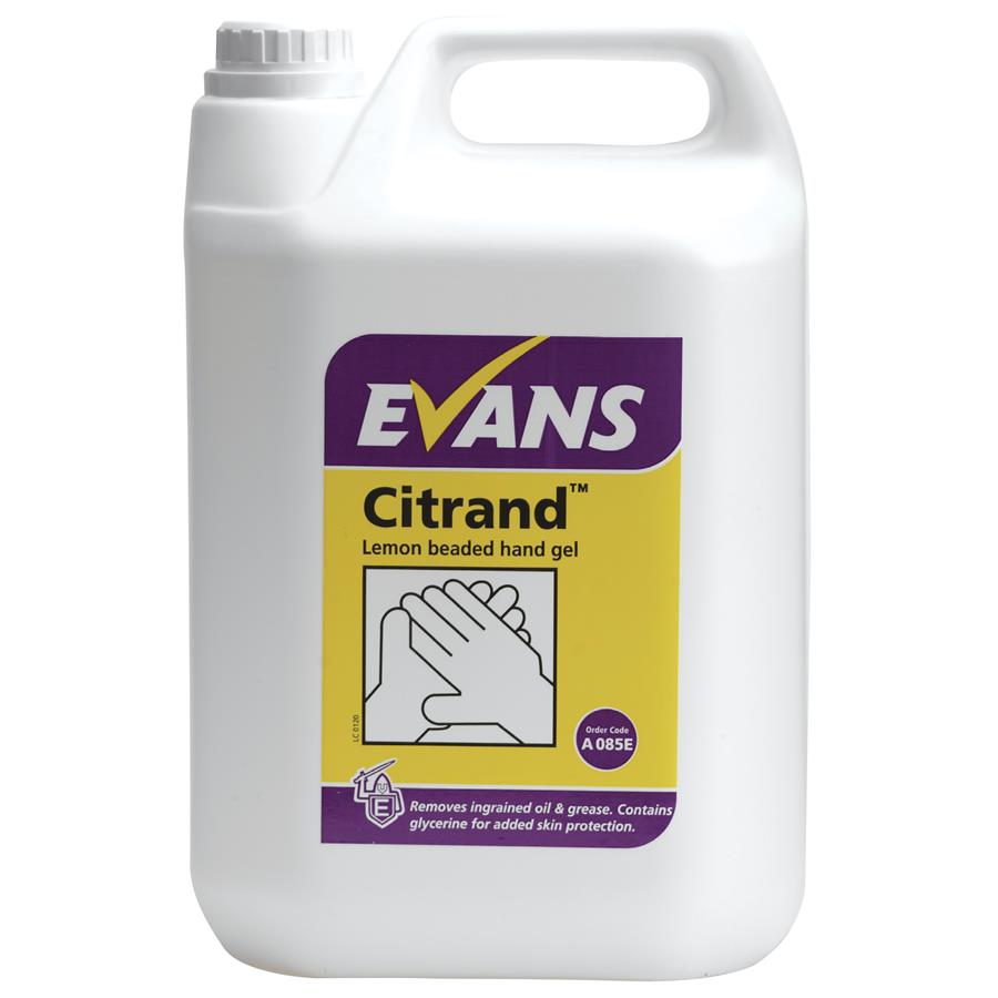 Evans Citrand Beaded Hand Gel 5ltr